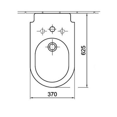 ALFÖLDI LINER / 7454 L1 R1 / álló bidé Easyplus bevonattal
