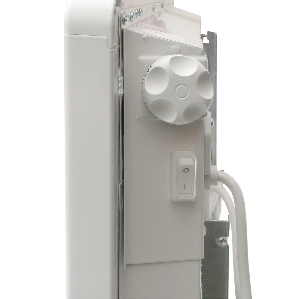 BONJOUR Elektromos fali / falra szerelhető fűtőtest / konvektor / radiátor / fűtőpanel, 1500W / 1,5 kW, tartókonzollal, beépített termosztáttal, dugvillával, 649151