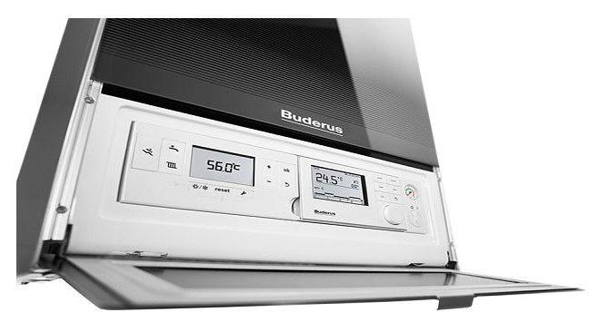 Buderus Logamax Plus GB 172-35 iK H, 35kW-os Intelligens kondenzációs kombi fali gázkazán, beépített időjárás követő szabályzó, nagyméretű LCD-kijelző 7736900825