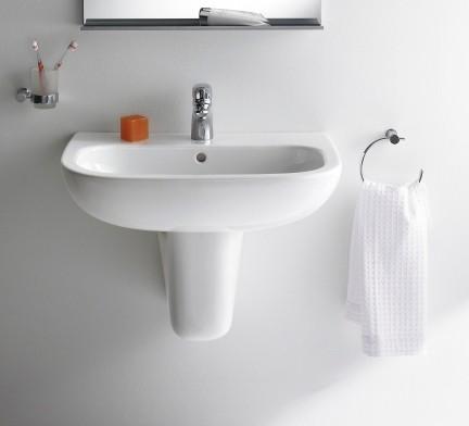 DURAVIT D-Code mosdó 60x46 cm-es, falra szerelhető / fali, fehér, porcelán / 231060 / 23106000002