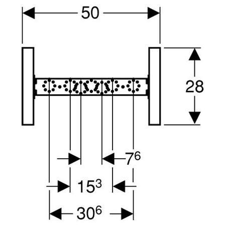 Geberit Basic Duofix szerelőelem fürdőkádhoz/zuhanyzóhoz fali csaptelephez / 111.770.00.1 / 111770001