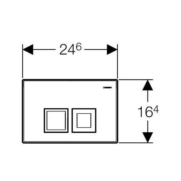 GEBERIT Delta 50 nyomólap 2 vízmennyiségű matt króm UP100 BASIC beépíthető wc tartályhoz 115.135.46.1