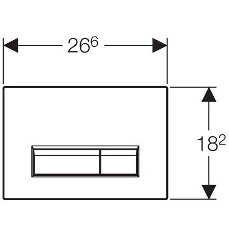 Geberit Sigma40 szagelszívó működtető egység / nyomólap ventilátorral, fekete üveg-alumínium, 115.600.SJ.1 / 115600SJ1, Duofresh beépíthető wc tartályhoz
