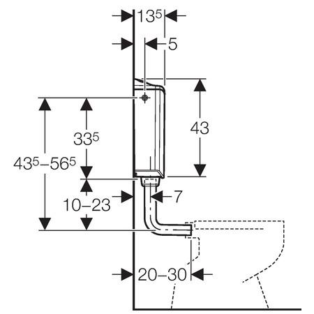 GEBERIT AP116 PLUS falon kívüli öblítőtartály / wc tartály alpin fehér 136.444.11.1 / 136444111