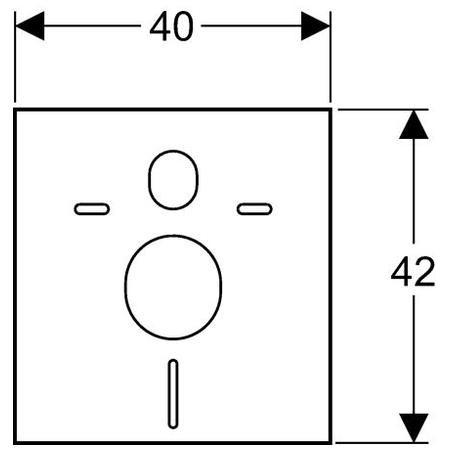 Geberit hangcsillapító / zajcsökkentő készlet fali WC és bidé számára / 156.050.00.1 / 156050001