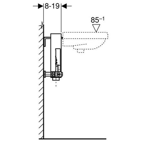 Geberit Kombifix mosdó szerelőelem álló csapteleppel szerelt fali mosdó részére 457.430.00.1 / 457430001