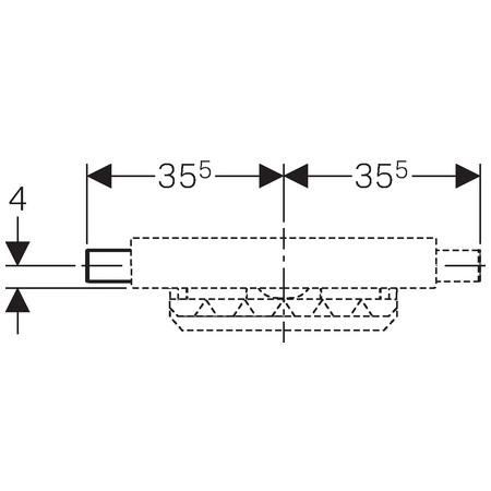 Geberit Kombifix Uniflex zuhany szerelőelem, alacsony építéshez, falsík alatti lefolyóval 457.534.00.1 / 457534001