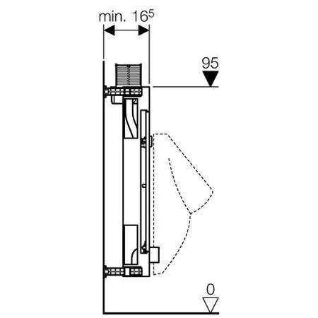Geberit Felülről működtethető Kombifix univerzális vizelde szerelőelem 457.612.00.1 / 457612001