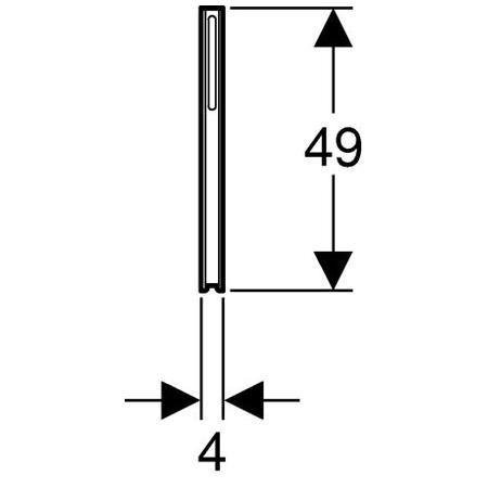 Geberit Rögzítőláb Kombifix WC és bidé szerelőelemekhez / galvanizált / 457.888.26.1 / 457888261