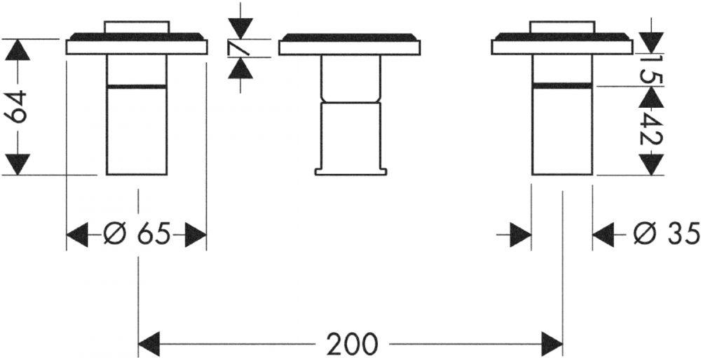 HansGrohe AXOR  Starck 2 karos kádcsaptelep falsík alatti szereléshez / fali szereléshez / DN15 / króm / 10423000 / 10423 000