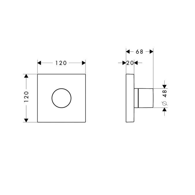 HansGrohe AXOR  Starck ShowerCollection Trio/Quattro színkészlet DN15 / króm / 10932000 / 10932 000