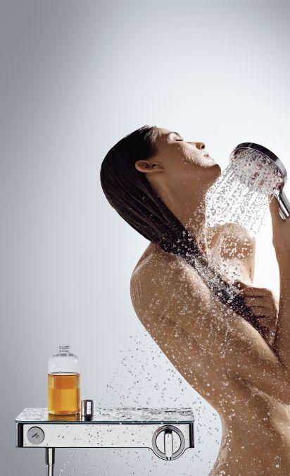 HansGrohe ShowerTablet Select 300 termosztátos zuhanycsaptelep DN15 / fehér / króm / 13171400 / 13171 400