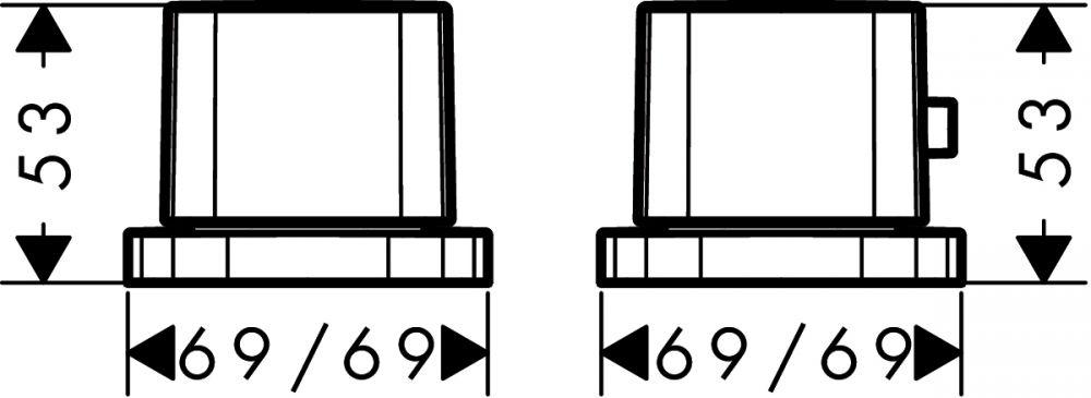 HansGrohe PuraVida 2-lyukú termosztátos peremre szerelhető kádcsaptelep DN15 / króm / 15474000 / 15474 000