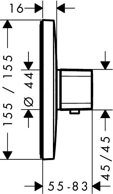 HansGrohe Ecostat E falsík alatti termosztátos csaptelep / 15705000 / 15705 000