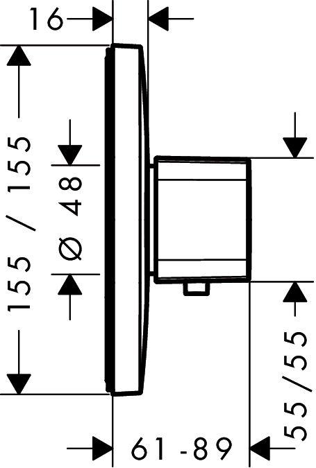 HansGrohe Ecostat E falsík alatti termosztátos highflow csaptelep / 15706000 / 15706 000