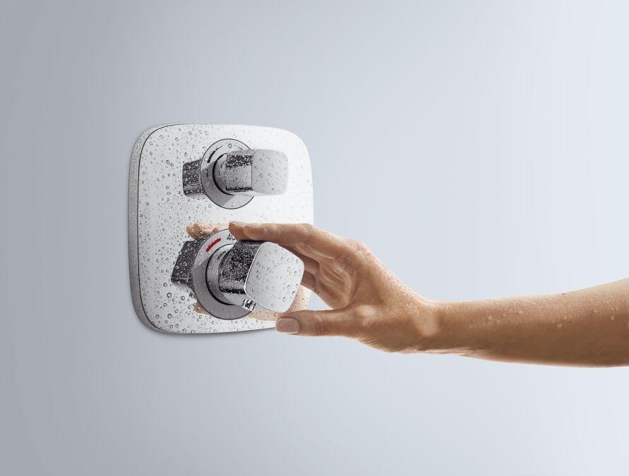 HansGrohe Ecostat E falsík alatti termosztátos csaptelep / 2 fogyasztóhoz / 15708000 / 15708 000