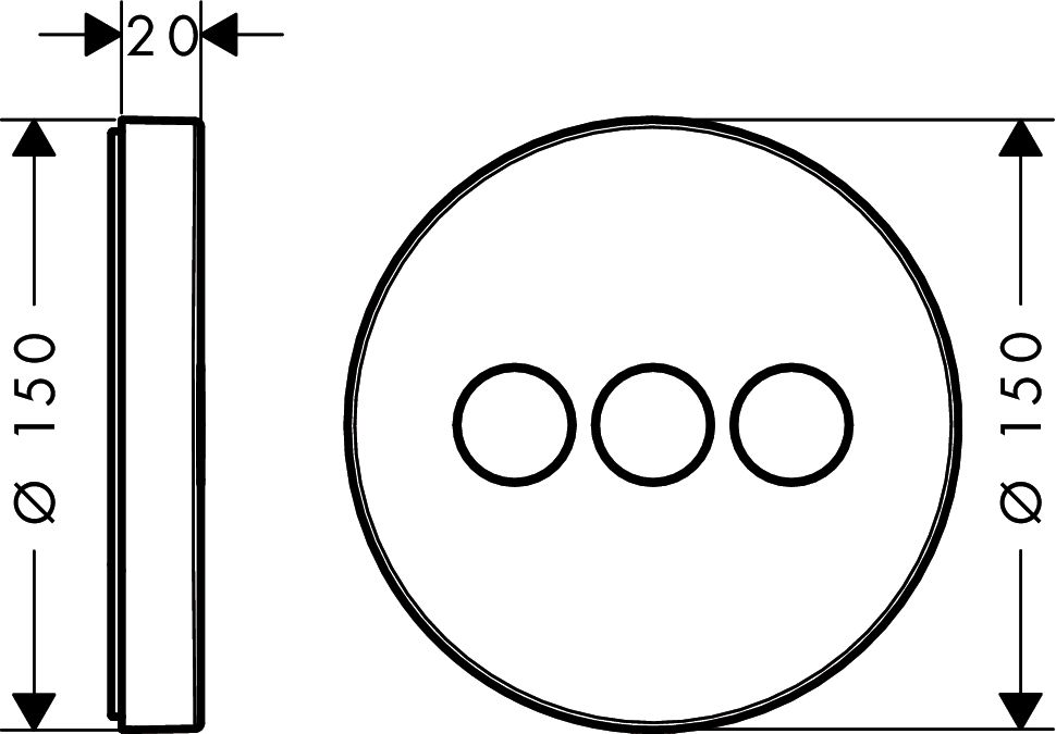 HansGrohe ShowerSelect S szelep / falsík alatti szereléshez / 3 fogyasztóhoz / 15745000 / 15745 000