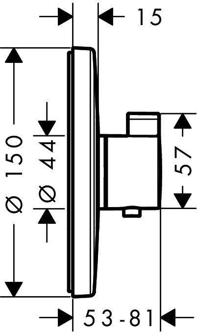HansGrohe Ecostat S falsík alatti termosztátos csaptelep / 15755000 / 15755 000
