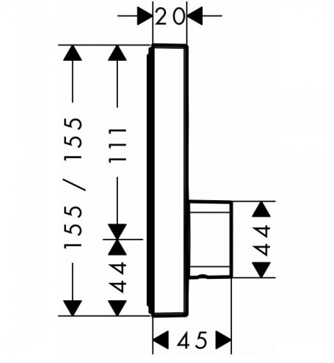 HansGrohe ShowerSelect 1 fogyasztós csaptelep falsík alatti szereléshez / 15767000 / 15767 000