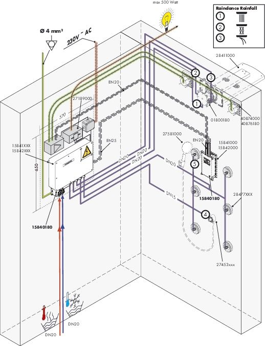 HansGrohe RainBrain színkészlet vízmennyiség-szabályzóval / króm / 15842000 / 15842 000