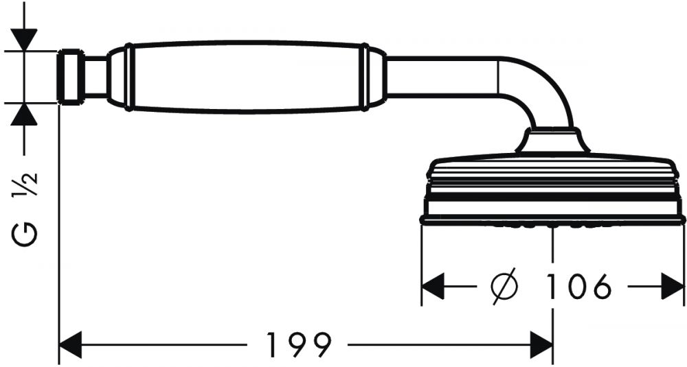 HansGrohe AXOR Montreux 1jet Kézizuhany DN15 / szálcsiszolt nikkel / 16320820 / 16320 820