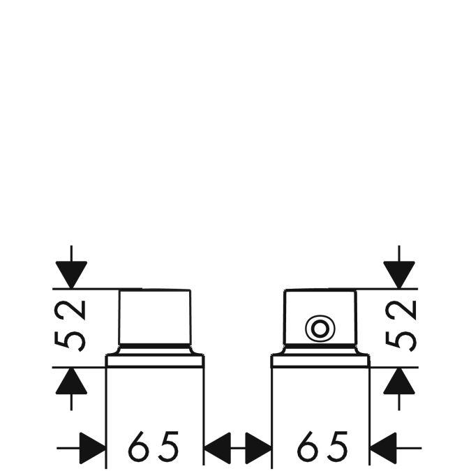 HansGrohe AXOR Massaud 2-lyukú termosztátos, peremre szerelhető kádcsaptelep DN15 / króm / 18480000 / 18480 000