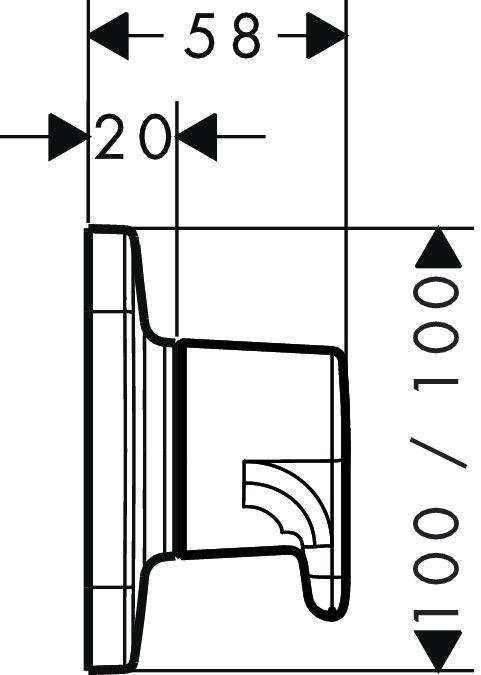 HansGrohe AXOR Bouroullec egykaros falsík alatti elzárószelep színkészlet / 19972000 / 19972 000