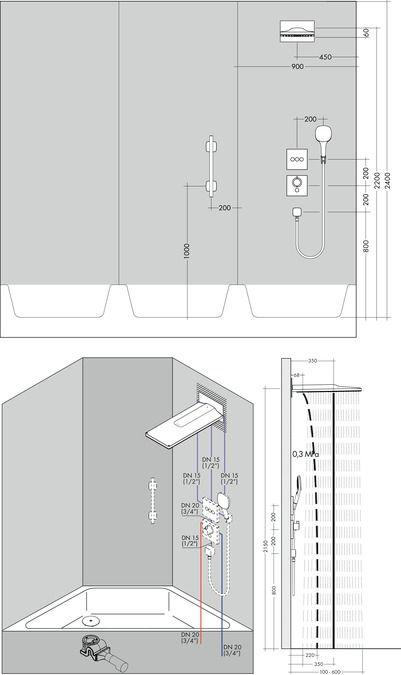 HansGrohe Rainmaker Select 580 / 3et fejzuhany EcoSmart 9 liter/perc / 24011400 / 24011 400