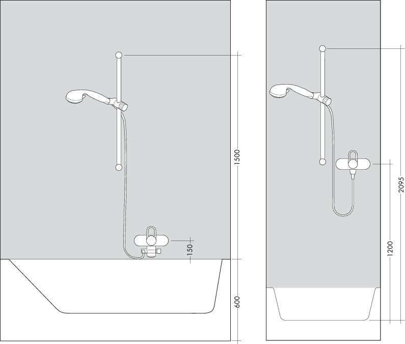 HansGrohe AXOR Front zuhanyszett / króm / 26023000 / 26023 000