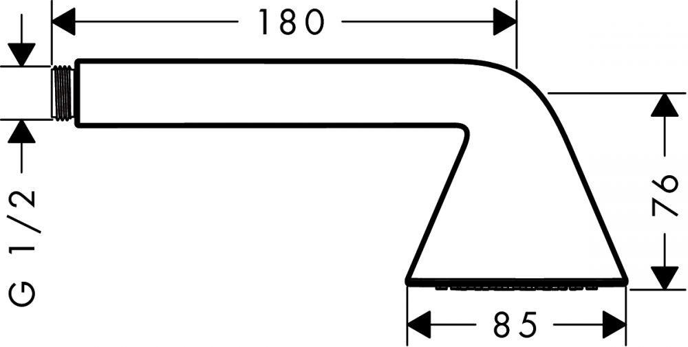 HansGrohe AXOR Front 1jet kézizuhany / króm / 26025000 / 26025 000