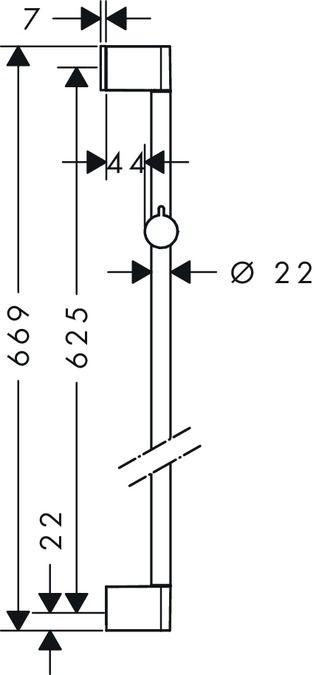 HansGrohe Unica'Croma zuhanyrúd 0.65 m / 26503000 / 26503 000