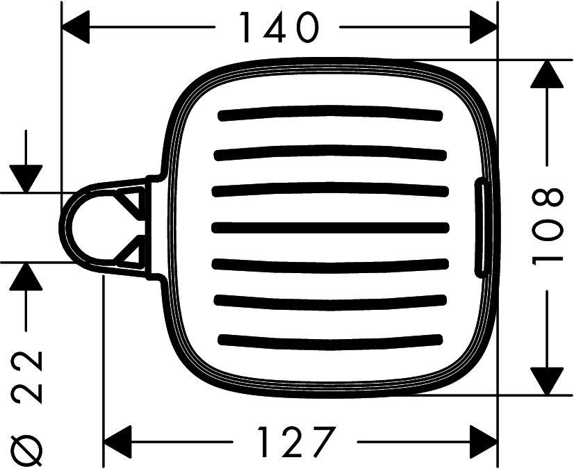 HansGrohe Casetta E szappantartó / króm / 26519000 / 26519 000