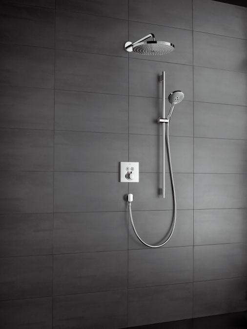 HansGrohe Raindance Select S 120/Unica'S Puro zuhanyszett 0,90 m / fehér-króm / 26631400 / 26631 400