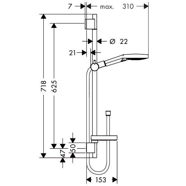 HansGrohe Raindance Select S 120 Ecosmart 9 l/perc/Unica'S Puro zuhanyszett 0,65 m / króm / 26632000 / 26632 000