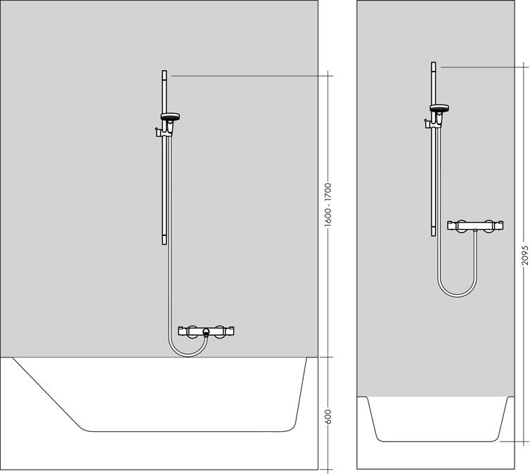HansGrohe Crometta 100 Multi EcoSmart 9 liter/perc zuhanyszett 0.65 m / 26653400 / 26653 400