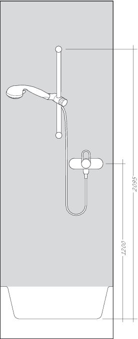HansGrohe ShowerTablet 300 Combi 650mm / fehér-króm / 27026400 / 27026 400