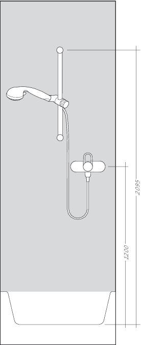 HansGrohe Ecostat Select falsíkon kívüli zuhanycsaptelep/RD Select S 150, 0,65 m szett / kóm / 27036000 / 27036 000