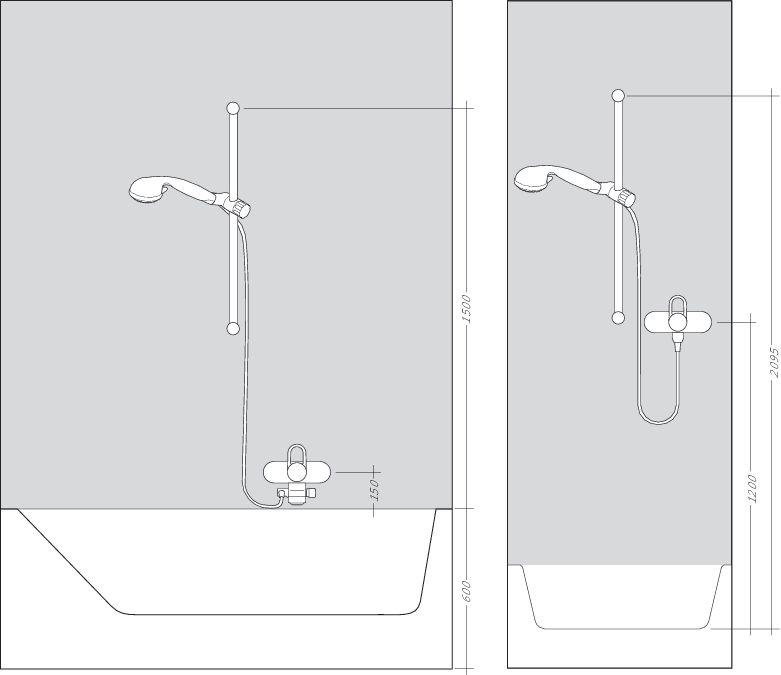 HansGrohe Raindance Select / 150 Combi 0,90m / DN15 / fehér-króm / 27037400 / 27037 400
