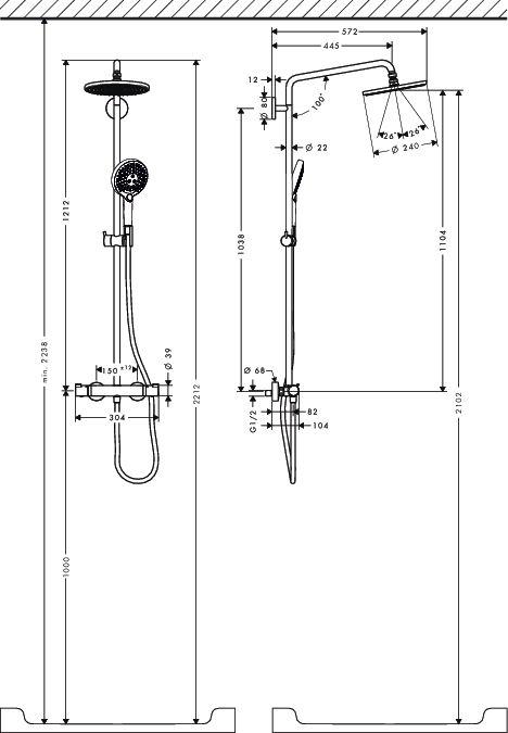 HansGrohe Raindance Select Showerpipe 240 / króm / 27115000 / 27115 000
