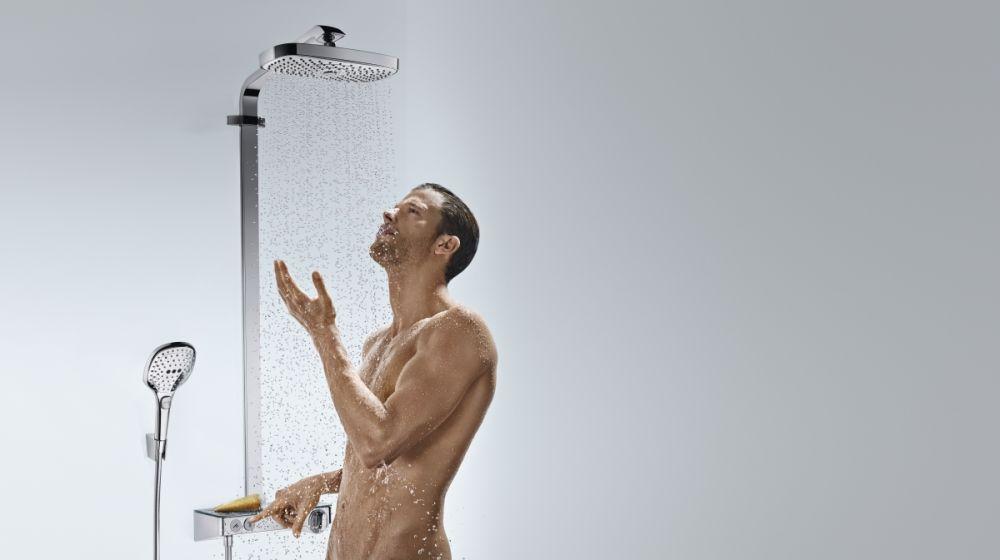 HansGrohe RD Select E 300 2jet Showerpipe / fehér-króm / 27126400 / 27126 400