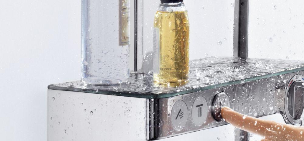 HansGrohe RD Select E 300 3jet Showerpipe / fehér-króm / 27127400 / 27127 400