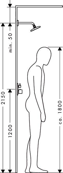 HansGrohe PuraVida fejzuhany 400 mm DN15 / 100 mm-es mennyezeti csatlakozóval / fehér-króm / 27390400 / 27390 400