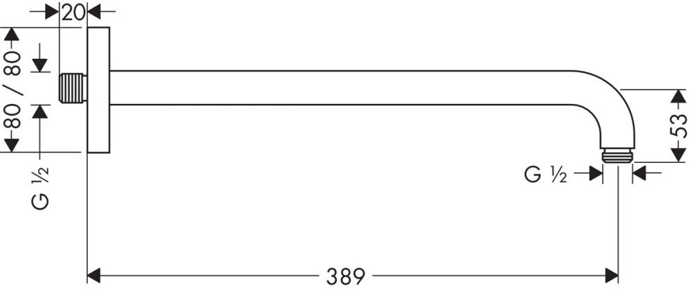 HansGrohe Zuhanykar E 389 mm / 27446000 /27446 000