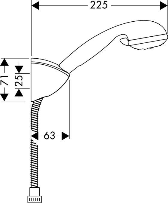 HansGrohe Croma 2jet/Porter'C kádszett 1,25 m DN15 / króm / 27535000 / 27535 000