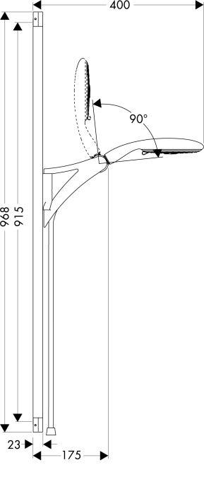 HansGrohe Raindance E 150 3jet/Unica'S zuhanyszett 0,90 m EcoSmart DN15 / króm / 27657000 / 27657 000