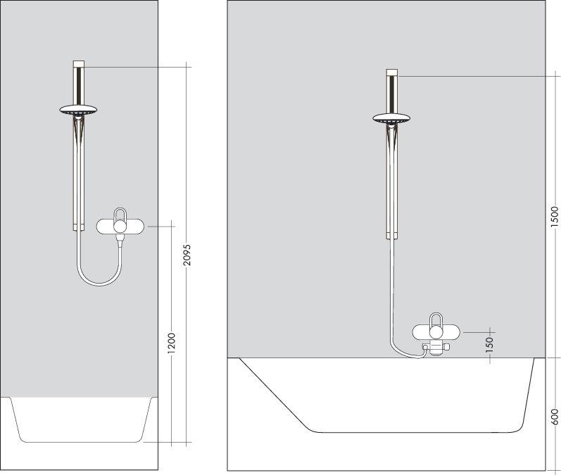 HansGrohe Raindance E 100 AIR 3jet/Unica'D zuhanyszett 0,65 m DN15 / króm / 27883000 / 27883 000