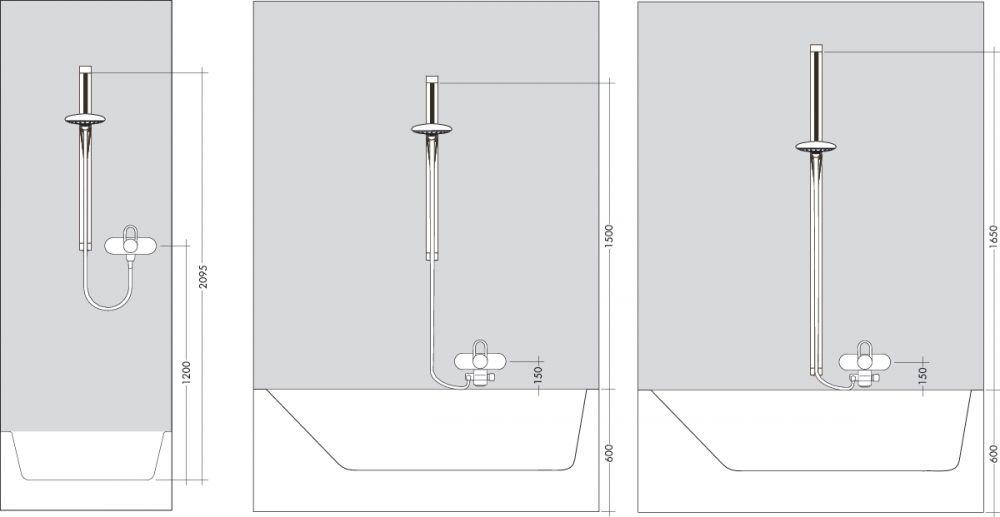 HansGrohe Raindance Unica'S zuhanyszett 0,90 m DN15 / króm / 27893000 / 27893 000