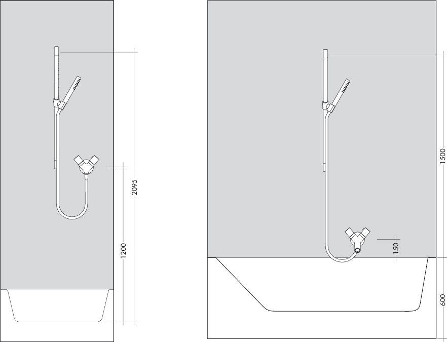 HansGrohe AXOR Starck zuhanyszett 900mm 1jet / króm / 27983000 / 27983 000