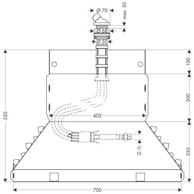 HansGrohe Secuflex kádperem szett DN15 / króm / 28380000 / 28380 000