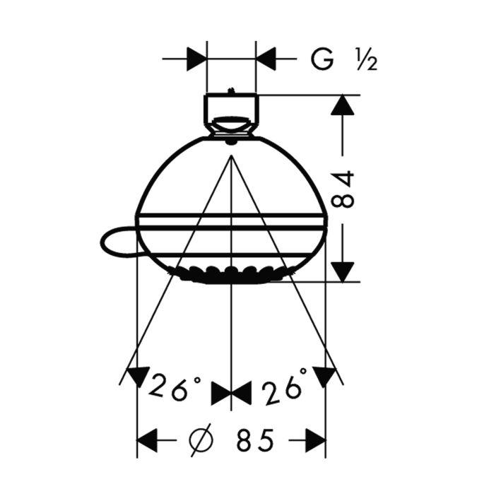 HansGrohe Crometta 85 Variojet fejzuhany DN15 / króm / 28424000 / 28424 000